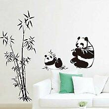 New Black Panda Bambus Wandaufkleber Wohnzimmer Tv