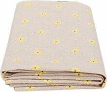 New DIY 50x 150cm Baumwolle Leinen Daisy gedruckt Nähen Tuch Patchwork handgefertigt Tischdecke Tischdecken Betten Vorhang Kissen Staubbeutel Home Dekoration gelb