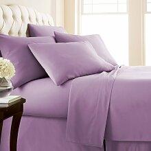 New Fadenzahl 5004Stück Bettlaken Set Lavendel Euro Small Single 500TC massiv 100% ägyptische Baumwolle extra tief Tasche (18Zoll)–von TRP Bla