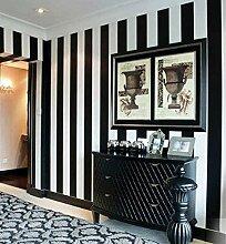 New Hot Sale europäischen Fashion PVC Streifen Tapete Haarverdichtung Damaskus Wandtattoo Hintergrund Tapete 2Farben 53cm * 10Mio./Rolle, 50201 white Black, hgh