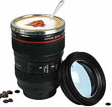 New Kaffee Objektiv Emulation Kamera Mug Bier