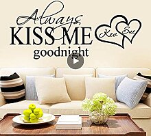 New Kiss Me Wandkunst Aufkleber Wandkunst