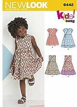 New Look Kinder Easy Wrap kleider Schnittmuster, Papier