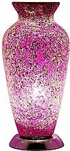 New Mosaik Lampe Vase, Glas, Pink Rose
