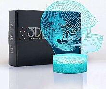 New Orleans Saints flaches 3D-LED-Nachtlicht