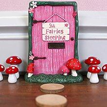 New Pink Fairy Tür–Shhh Garten Ornament Bäumen oder Wand