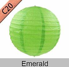 New product10–50cm Papier Laterne Festival Supplies Geburtstag Hochzeit Party Dekoration, smaragdgrün, 16inch 40cm