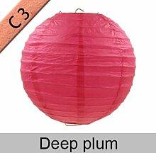 New product10–50cm Papier Laterne Festival Supplies Geburtstag Hochzeit Party Dekoration, Deep Plum, 4inch 10cm