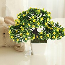 New productartificial Blumen Blumentopf Bonsai