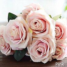 New productartificial Seide 1Strauß French Rose Blumen Bouquet Fake veranlassen Tisch Daisy Hochzeit Home Decor Party Zubehör, rose, 9cm/3.54