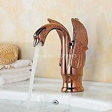 New Rose Gold vergoldet Swan Bad Waschbecken