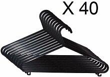 New Schwarz 40Stück Kleiderbügel aus Kunststoff Aufbewahrung von Kleidung Shirts Hosen Aufhängen Jeans Home