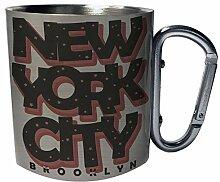 New York City Graffiti-Kunst Edelstahl Karabiner
