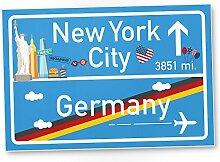 New York City Schild, Geschenk für sie New York Amerika Reise - süße Deko für NYC Fans, Wanddeko, Türschild für Mädchen Wohnung und Zimmer, Geschenkidee Geburtstagsgeschenk beste Freundin, Party Deko