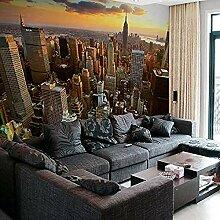 New York City Under Sunset Building Series