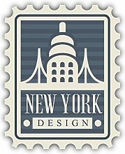 New York City USA Postage Emblem - Self-Adhesive