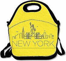 New York Design Black NYC LogoLunch Bag For Women