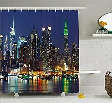 New York Duschvorhang, NYC Midtown Skyline in