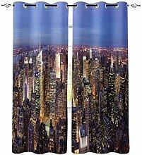 New York Hamanton Stadt Fenster Vorhänge für