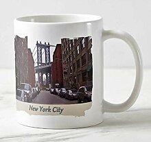New York Kaffee-Becher - Motiv: Brooklyn - Blick