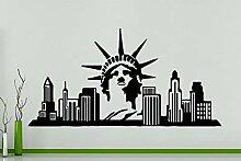 New York Skyline Stature Of Liberty Gebäude