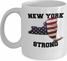 New York State Kaffeetasse - Porzellan Weiß
