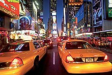 New York Times Square Taxi Foto-Tapete 4-teilig -