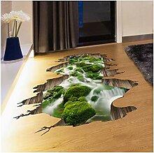 Newberli 3D Boden Aufkleber Grüne Farbe Stream