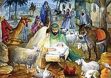 Newborn Child Nativity Advent Calendar (Countdown