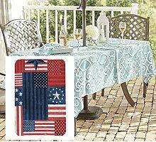 Newbridge Tischdecke mit amerikanischer Flagge,
