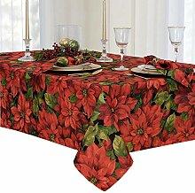 Newbridge Tischdecke mit Weihnachtsstern, 132 x