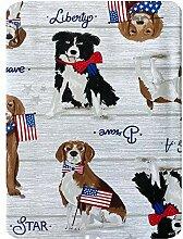 Newbridge Tischdecke, Motiv: Patriotische Hunde