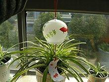 newdreamworld 's handgefertigt Japanische Aufhängen Glas Furin für Home Ornaments, Windspiel, Dia 8cm x H 7cm
