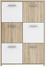 NEWFACE Preiswerte Kommode, Holz, Sonoma Eiche