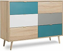 Newfurn Kommode Sonoma Eiche Sideboard Modern -