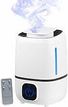 newgen medicals Ultraschall-Luftbefeuchter mit Aromafach & 360°-Vernebler, 280 ml/Std.