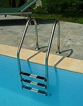 Newplast–Leiter Sky Edelstahl 3Stufen Pool Schwimmbäder technypools