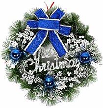 newrong Weihnachtenbaum Adventskranz Blau3
