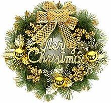 newrong Weihnachtenbaum Adventskranz Gold3