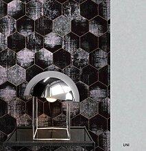 NEWROOM Beton-Optik Tapete Metallic Beton Modern