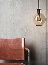 NEWROOM Beton-Optik Tapete Rot Beton Modern