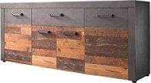 Newroom Sideboard Jamell, Kommode Anthrazit Old