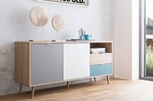 Newroom Sideboard, Sideboard Sonoma Eiche Modern