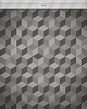 NEWROOM Tapete Anthrazit Geometrisch Würfel
