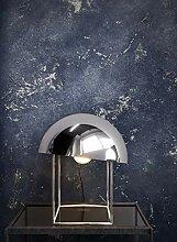 NEWROOM Tapete blau Industrial Bauhaus Vliestapete