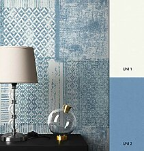 NEWROOM Tapete Blau tapete moderne Mustertapete
