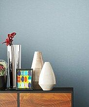 NEWROOM Tapete Blau Vliestapete Unis schöne moderne und edle Design Optik , inklusive Tapezier Ratgeber