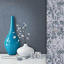 NEWROOM Tapete Dunkelblau Unifarbe Uni Vliestapete Grau Vlies moderne Design Optik Tapete Einfarbig Unifarben inkl. Tapezier Ratgeber
