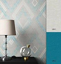 NEWROOM Tapete grafisch Blau Geometrisch Grafik