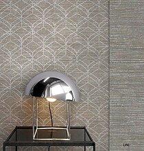 NEWROOM Tapete grafisch Braun Geometrisch Grafik